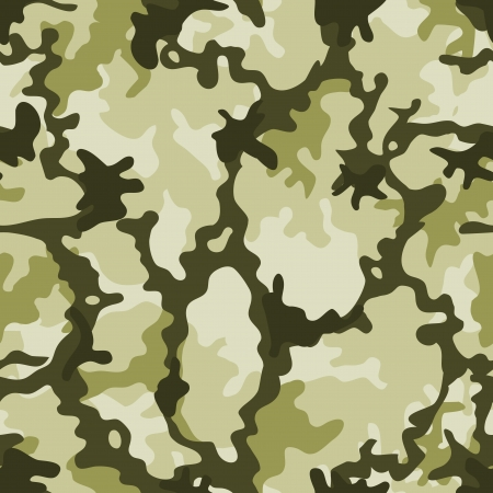 Illustration of a military camouflage with green shades for army background and camo wallpapers Vector