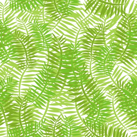 hedge trees: Illustration of a seamless background with thin green leaves for spring or summer nature wallpaper