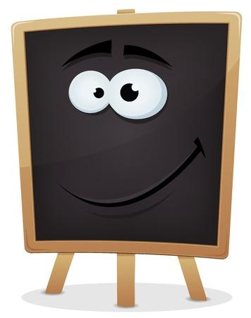 school classroom: Illustration of a happy school classroom blackboard character for education advertisement Illustration