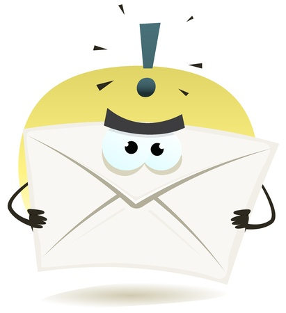 Illustration of a funny angry contact email icon envelope character Stock Vector - 21606066