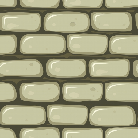 Illustration of a seamless cartoon old stone wallpaper background with bricks of rock Vector