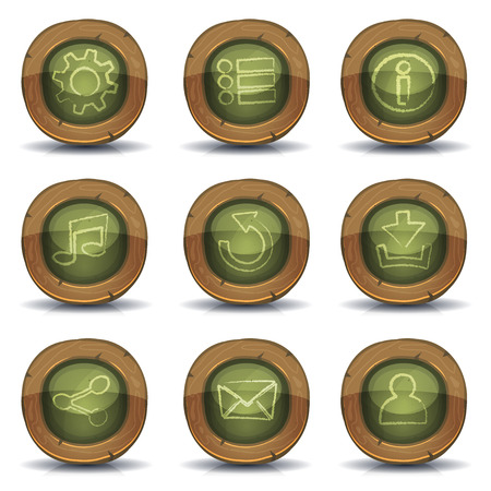 Illustration of a set of design school education icons and buttons Vector