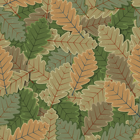 hedge trees: Illustration of a seamless background with winter green leaves for nature wallpaper with grunge texture