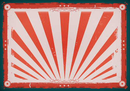 sunbeams: Illustration of an horizontal design american retro fourth of july holidays poster background, for american anniversary events, red and blue with sunbeams Illustration