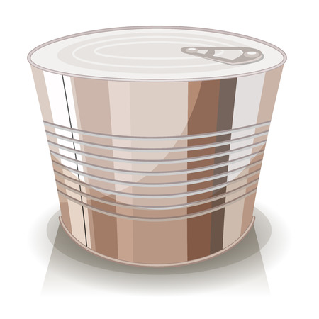 packaging industry: Illustration of a cartoon food tin can, with no sign Illustration