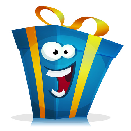 Illustration of a cartoon pack of happy birthday and anniversary illustration of a cartoon funny christmas birthday and anniversary gift character happy and cheerful vector negle Image collections