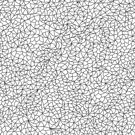 any size: Illustration of a black and white seamless pattern for coloring book, with looped repetitive abstract background, that can be repeated and sized at any size