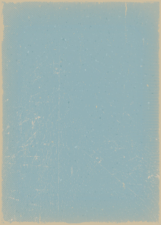 filthy: Illustration of a vintage blue paper background, with grunge, weathered and textured effects