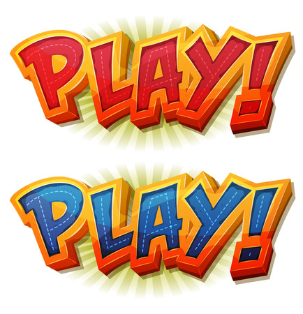 Illustration of a cartoon design play icon or button for game user interface