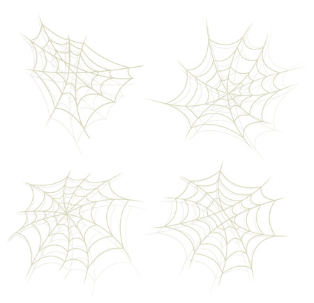 arachnid: Illustration of a set of cartoon spider web