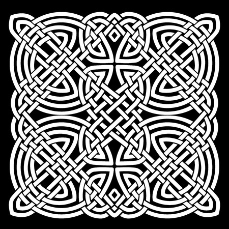 Illustration Of A Black And White Celtic Mandala Background, For Ornaments  And Tattoos Pattern Stock