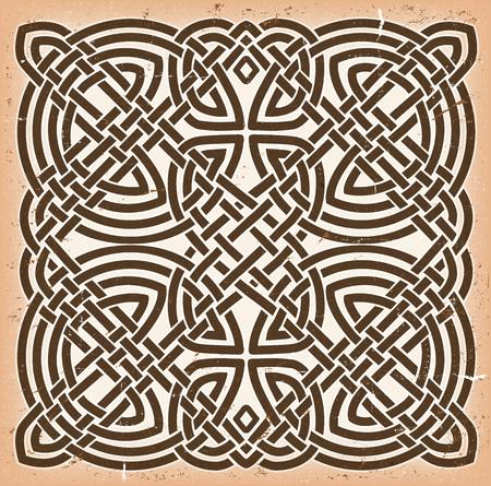 #68825125   Illustration Of A Grunge Textured And Vintage Colored Celtic  Mandala Background