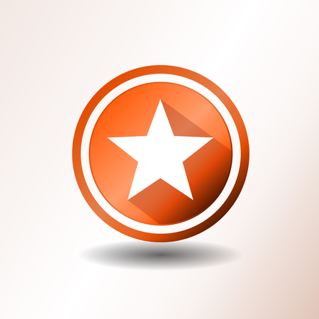 award winning: Illustration of a flat design star icon or button Illustration