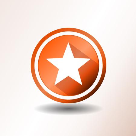 stars: Illustration of a flat design star icon or button Illustration
