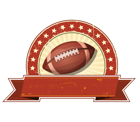 american sport: Illustration of an american football sport banner, with grunge and vintage design