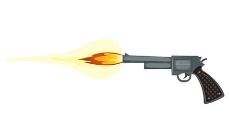Illustration of a cartoon police gun shooting