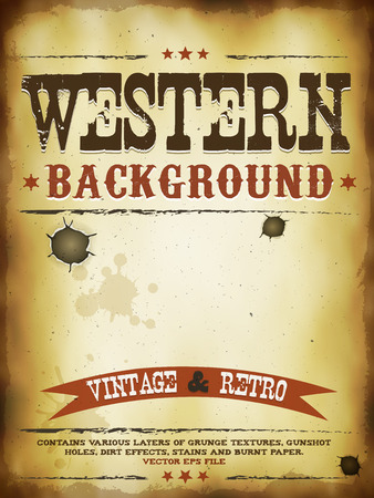 Old western poster illustration.