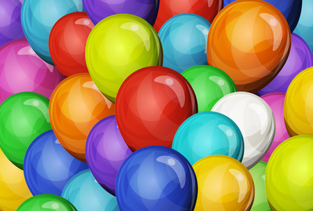 Illustration of carnival and holidays party balloons, for festive backgrounds