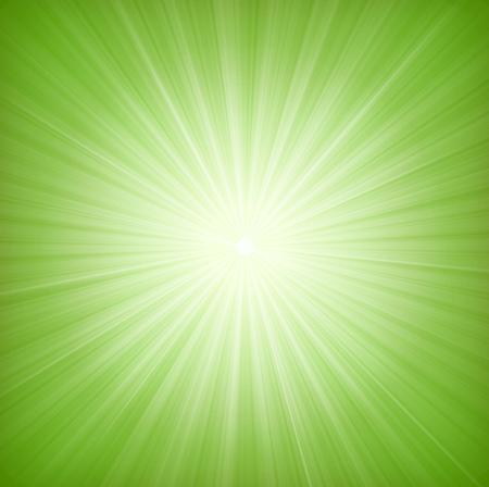 화려한 녹색 별 버스트와 디자인의 일러스트 레이션