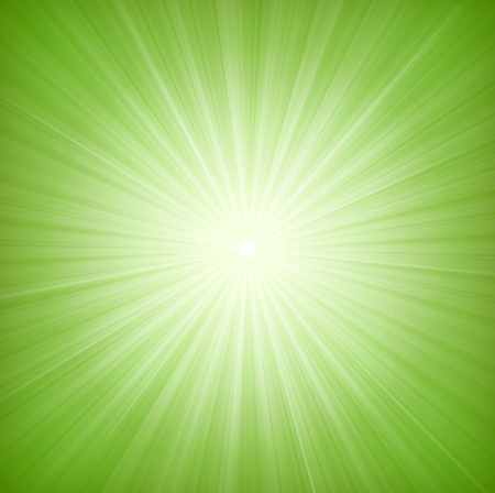 Illustration of a design with flashy green star burst