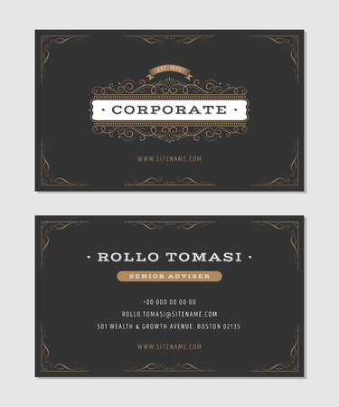 Illustration Of A Set Of Luxury Vintage Business Card Templates