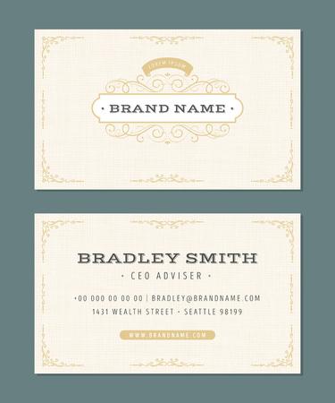 Illustration of a set of luxury vintage business card templates illustration of a set of luxury vintage business card templates with flourish patterns hand colourmoves
