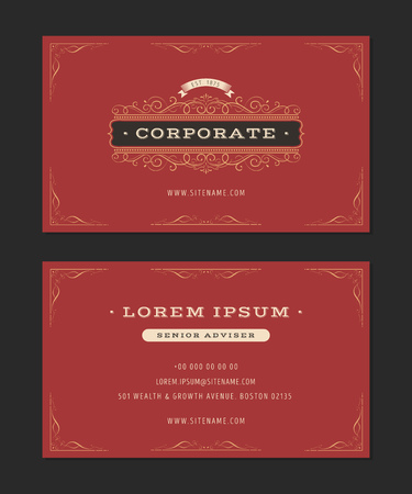 Illustration of a set of luxury vintage business card templates illustration of a set of luxury vintage business card templates with flourish patterns hand wajeb Gallery