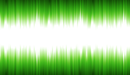 Illustration of an abstract technology background, with green light waveform oscillation for speech synthetizer, with shiny and bright rays effect Illustration