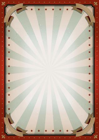 Illustration von Retro- und Vintage-Zirkusplakathintergrund, mit leerem Raum und Grunge-Textur für Kunstfestivalveranstaltungen und Unterhaltungshintergrund
