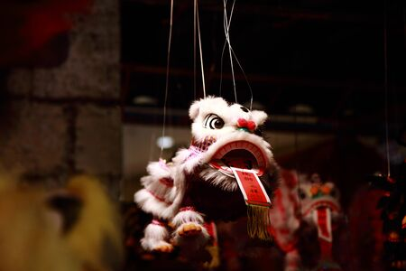 lion dance: Lion Dance Doll Stock Photo