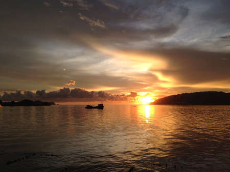 view: The sun set in grace