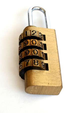 combination: Combination lock set to 2008 Stock Photo