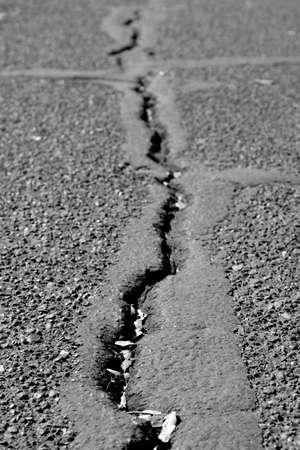 crack: Asphalt crack