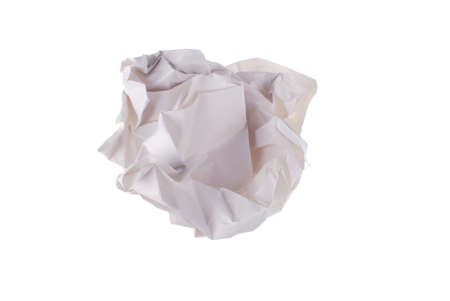 disposed: waste paper on white background