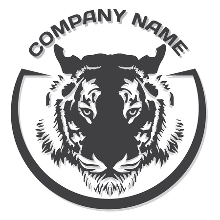 tigres: Silueta de la cabeza del tigre