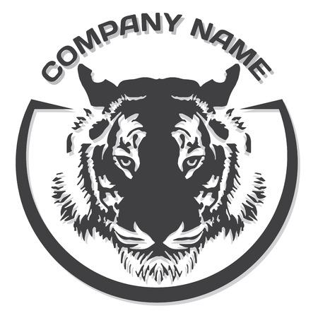 gesichter: Tiger-Kopf-Silhouette