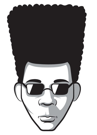 Man with afro portrait
