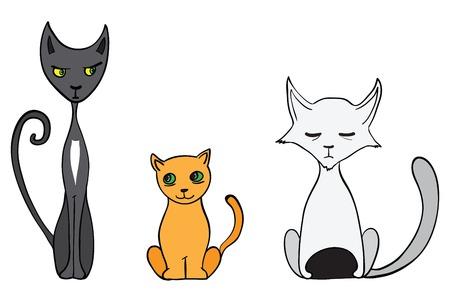 Cartoon cats illustration