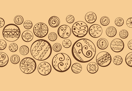 Abstract background with decorative circles  Seamless pattern  Illustration