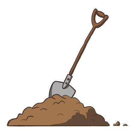 soil: Pala in Vector sporcizia fumetto illustrazione a mano libera