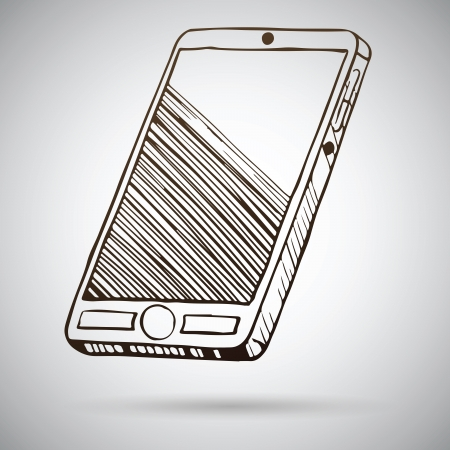 Smartphone sketch  Vector illustration Vector