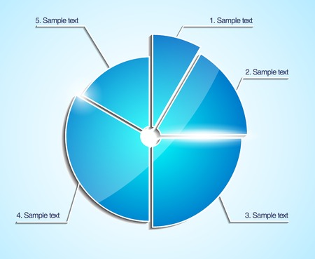 Glossy business pie chart  Vector diagram  Infographic template Vector