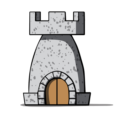 citadel: Cartoon medieval tower  Vector illustration Illustration