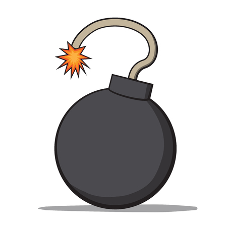 shrapnel: Cartoon bomb Illustration Illustration