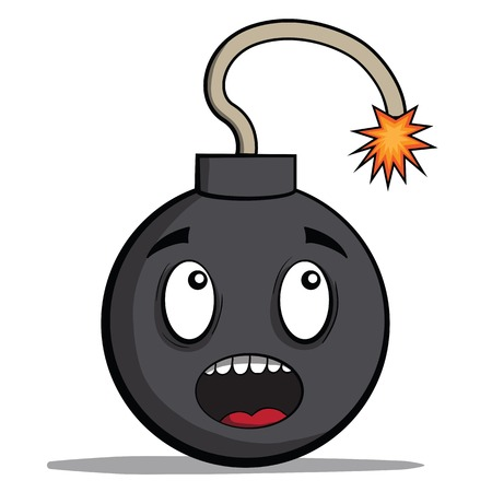 Funky cartoon bomb ready to explode illustration Vector