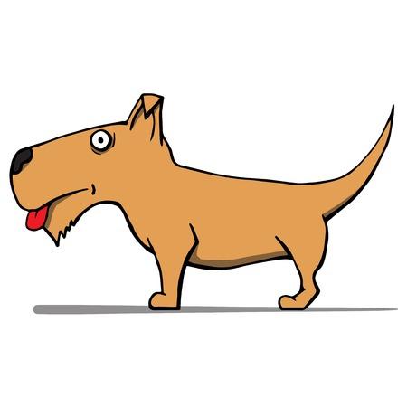 cute cartoon dog: Cute cartoon dog illustration