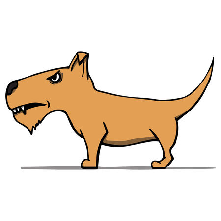 angry cartoon: Angry cartoon dog illustration