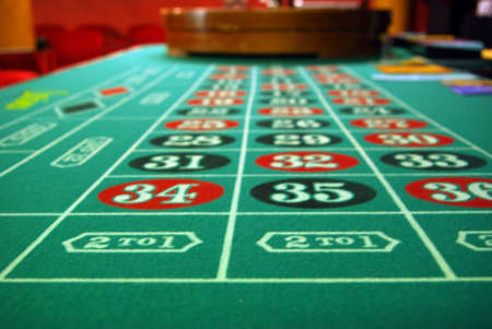 roulette table: Roulette Wheel and Table