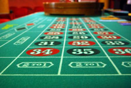 roulette: Roulette Wheel e la tabella Archivio Fotografico