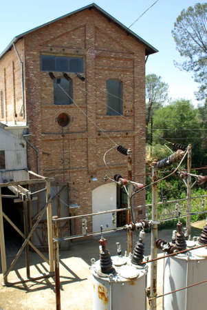 An Electrical power generating station built in the late 1800s. Banco de Imagens